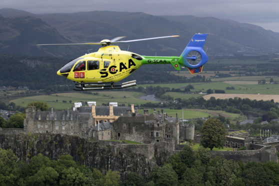 Scotlands Chairty Air Ambulance has released exclusive photographs flying over some well known landmarks.
