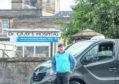 Taxi man Garey Stewart outside of Dr. Grays Hospital in Elgin.