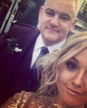 Mr Stewart and daughter Amy