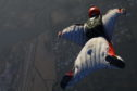 Liam Byrne could be the youngest wingsuit flyer to take to the skies.