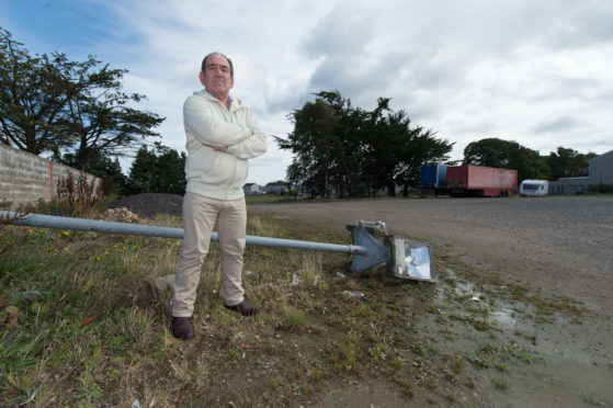 Elgin Community Council chairman Alistair Kennedy at the former mart on Linkwood Road.