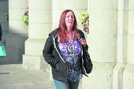 Jayne Reid arriving at Aberdeen court.