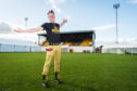 Seb Jones of Speyside Brewery and organiser of Pitch Perfect Festival held at Forres Mechanics Football Ground.