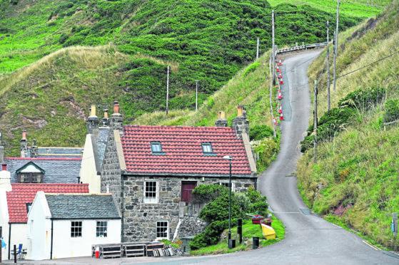 Crovie in Aberdeenshire.