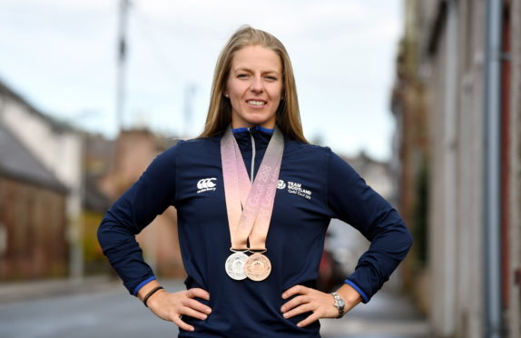 Neah Evans has won Commonwealth Games, World Cup and European Championship medals this year.