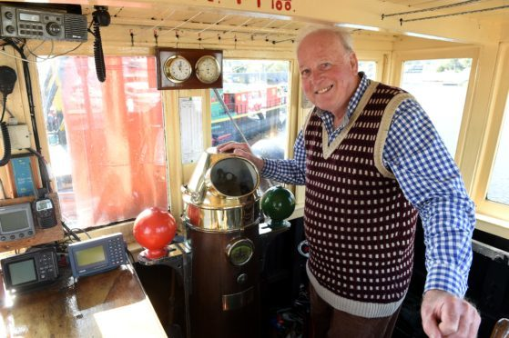Nick Walker of the Puffer Preservation Trust aboard VIC 32.