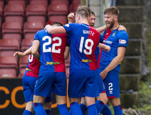 Shaun Rooney scored his first goal for Caley Thistle.