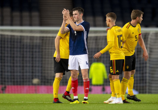 John Souttar made his debut for Scotland against Belgium on Friday.