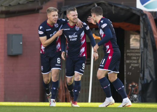 Billy Mckay bagged a hat-trick for Ross County.