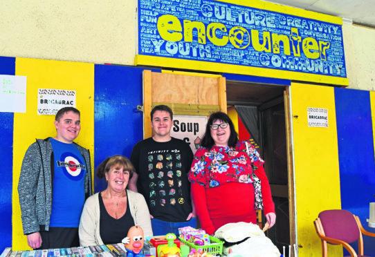 Lewis Wood, Elaine Barwick, Liam Godfrey and Sarah Sleigh fundraising for Reach.