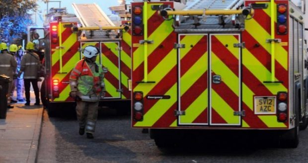 Fire crews attended the blaze in Aberdeen city centre.