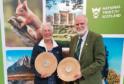 George Waterston Award winners 2018 - L - Elizabeth Bracher, volunteer, Kellie Castle - R - John Lemon, Visitor Services Supervisor, Craigievar Castle