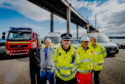 Partner agencies gathered at the Kessock Bridge in Inverness as operation CEDAR was launched last week. Picture by Jason Hedges
