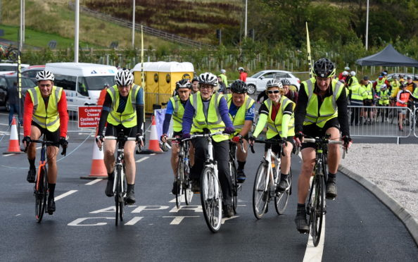 Cyclists from across the city took to the AWPR last summer in their droves