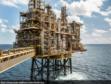 Shell north sea platform