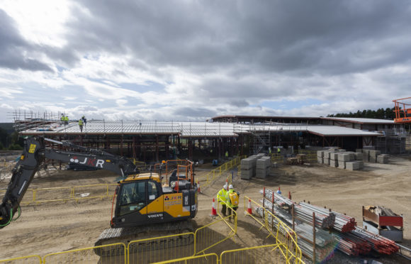 Work is progressing on Banchory Sports Village.