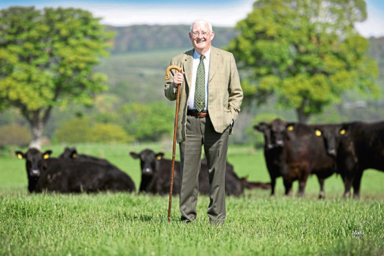 Russell Taylor, owner of the Moncur Aberdeen-Angus herd