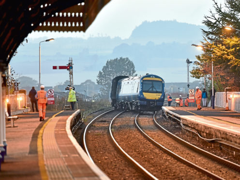 The derailment at Stonehaven Train Station resulted in more than 48 hours of closure. Picture by Scott Baxter