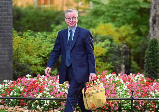 Environment, Food and Rural Affairs Secretary Michael Gove arrives in Downing Street, London, for a Cabinet meeting. PRESS ASSOCIATION Photo. Picture date: Tuesday October 9, 2018. Photo credit should read: David Mirzoeff/PA Wire