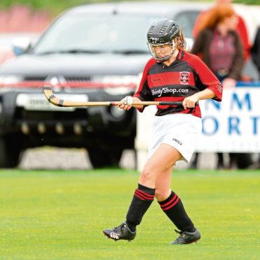 Isobel Barr in action for Glenurquhart.