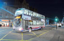 Night bus on Union Street, Aberdeen.