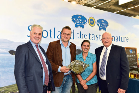 From left, QMS chief executive Alan Clarke, Frederic Musilek from Neo Viandes, QMS chairwoman Kate Rowell and Sandy Milne, managing director of Millers of Speyside.