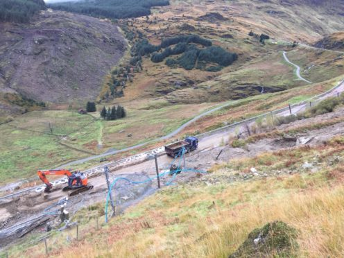 The A83 has suffered numerous landslides.