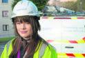 Trainee Openreach engineer Sarah Calam.