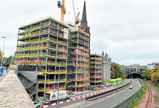 The Triple Kirks development in Aberdeen City centre.
