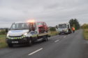 The scene of the collision on the A920.
