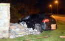 A woman has died following a one-car crash.