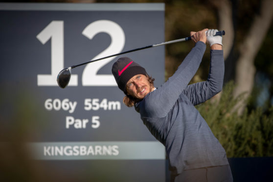 Tommy Fleetwood in action at Kingsbarns