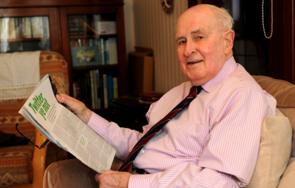 Rev George Goldie at home in Broomhill.