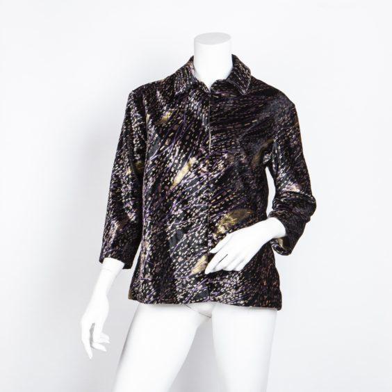 Fashion icon Jean Shrimpton has donated a velvet Georgina Von Etzdorf jacket