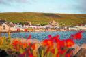 Scalloway and Scalloway Castle on mainland Shetland.