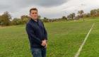 Dave Allen, chairman of the Elgin Sports Community Trust at Lesser Borough Briggs Fields.