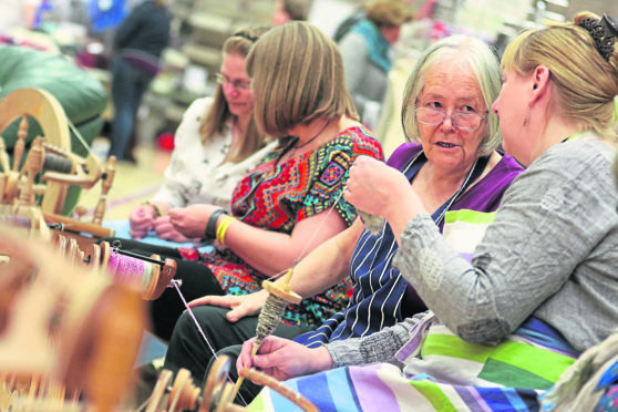 Loch Ness Knit Fest at Inverness Leisure Centre.