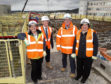 Margaret Reid of Scottish Courts and Tribunal Service, Frank Reid and Jeff Hedley, both of Robertson Construction, and Nikki Burnel, also of Scottish Courts and Tribunal Service, at the site of Inverness' new Justice Centre