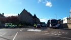 Police diverting traffic in Nairn this morning