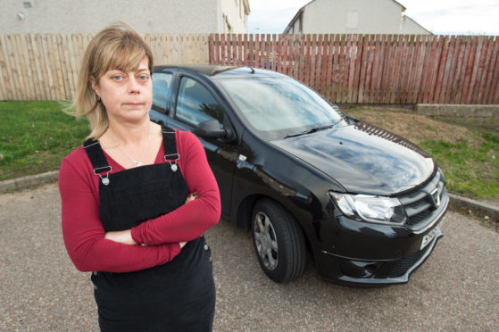 Heather Macdonald discovered a screw embedded in her car tyre.