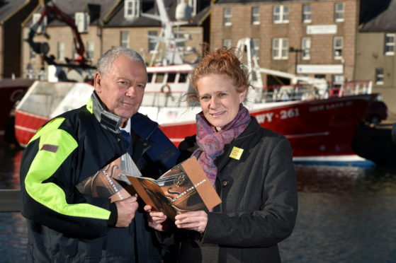 Picture of Assistant Harbour Master George Reid and Jen Shaw. Picture by Kenny Elrick.