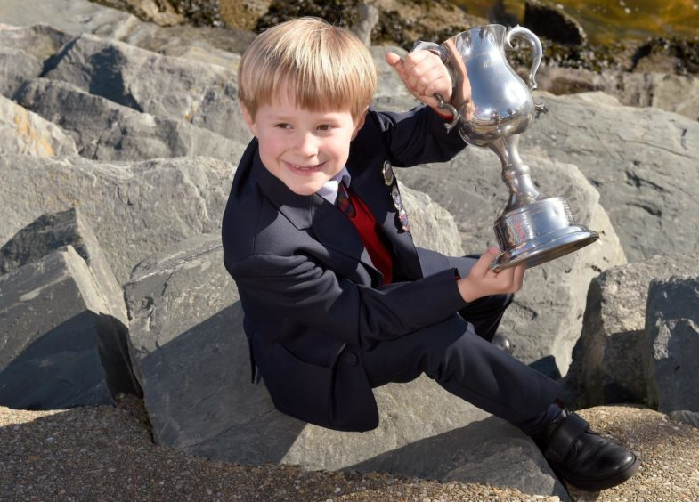 Callum Morrison of the Glasgow Gaelic School, winner of the Phemie Wilson Memorial Trophy for recitation of prescribed poetry for the second year running. His family hail from Glasgow and Harris.