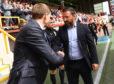 Derek McInnes meets Steven Gerrard ahead of the first game of the season.