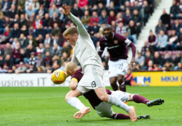 Aberdeen go down 2-1 at Hearts to remain in Scottish Premiership's bottom half