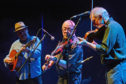 Bruce Molsky, Aly Bain and Ale Möller delight the Mareel crowd on Saturday.