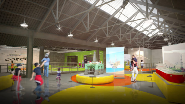 An illustration of the new design for Aberdeen Science Centre.