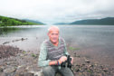 Tenacity and passion: Steve Feltham, who has spent more than 25 years watching Loch Ness for a sighting of the monster, has inspired director Alexander Farrell