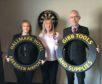 Alison Runciman from Hallmark Hotel Aberdeen Airport, Granite City Open secretary and treasurer Debbie Gordon and Sean MacLean from Gibb Tools.