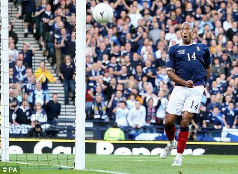 Chris Iwelumo's miss was crucial for Scotland.