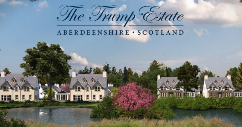 Artist's impression of the Trump Estate.